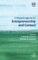 A Research Agenda for Entrepreneurship and Context PDF