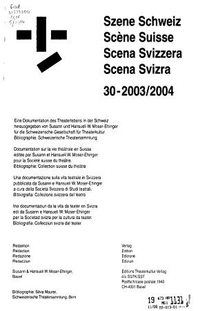 Scena svizzera PDF