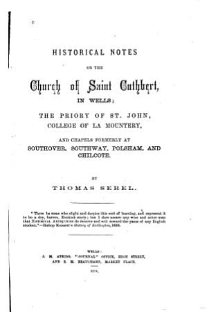 Historical Notes on the Church of Saint Cuthbert in Wells PDF