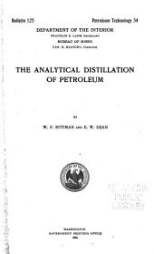 The analytical distillation of petroleum
