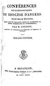Sur les synodes. [By J. P. Cotelle de La Blandinière.]