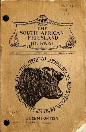 Suid Afrikaanse Friesland Joernaal