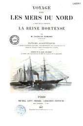 """Voyage dans les mers du nord à bord de la Corvette """"La Reine Hortense"""""""