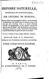 Histoire naturelle generale et particuliere: Volume56