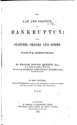 The Law and Practice in Bankruptcy PDF