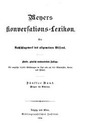 Meyers Konversations-Lexikon: Band 5