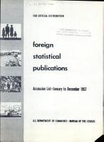 Foreign Statistical Publications PDF