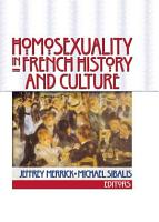 Homosexuality in French History and Culture PDF