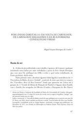 Por linhas direitas (1): em volta de Carvalhos, de Carvalhos Magalhães e da Rua Formosa: Genealogias Várias