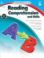 Reading Comprehension And Skills Grade 6