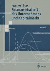 Finanzwirtschaft des Unternehmens und Kapitalmarkt: Ausgabe 4