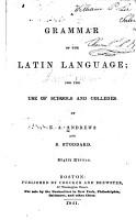 A Grammar of the Latin Language PDF