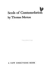 Seeds of Contemplation PDF