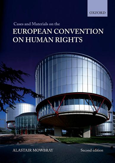 Cases and Materials on the European Convention on Human Rights PDF
