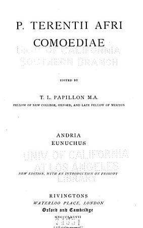 P  Terentii Afri Comoediae PDF