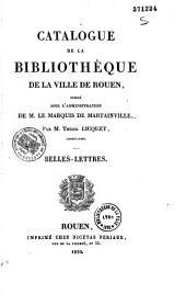 Catalogue de la bibliothèque de la ville de Rouen
