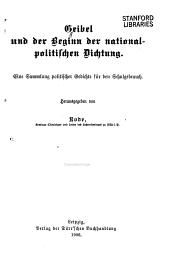 Geibel und der Beginn der nationalpolitischen Dichtung