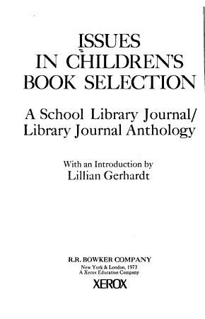 Issues in Children s Book Selection PDF