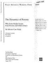 The Dynamics of Poverty