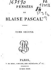 Pensées de Blaise Pascal: Volume2