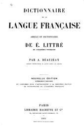 Dictionnaire de la langue française: abrégé du dictionnaire