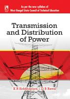 Transmission and Distribution of Power  WBSCTE  PDF