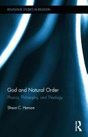 God and Natural Order