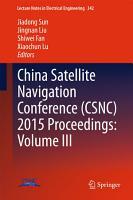 China Satellite Navigation Conference  CSNC  2015 Proceedings  PDF