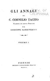 Gli annali di C. Cornelio Tacito: Volume 1
