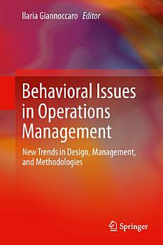 Behavioral Issues in Operations Management PDF