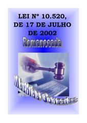 Lei 10.520/2002 Romanceada