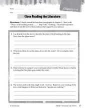 Hatchet Close Reading and Text-Dependent Questions