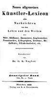 Neues allgemeines K  nstler Lexicon PDF