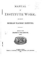 Manual of Institute Work