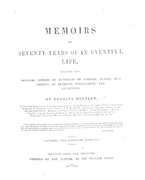 Memoirs of seventy years of an eventful life     Illustrated  etc PDF