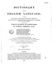 Dictionnary of the English Language with Numerous Corrections and with the Addition of Several Thousand Works and Also with Addition to the History of the Language and to the Grammar by H.J. Todd