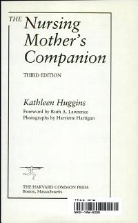 The Nursing Mother s Companion