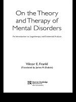 On the Theory and Therapy of Mental Disorders PDF
