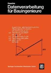 Datenverarbeitung für Bauingenieure