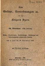 Neue Gesetze  Verordnungen f  r das K  nigreich Bayern PDF