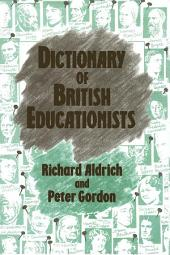Dictionary of British Educationists