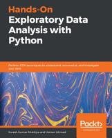 Hands On Exploratory Data Analysis with Python PDF