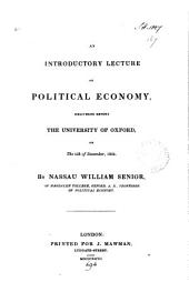 An introductory lecture on political economy