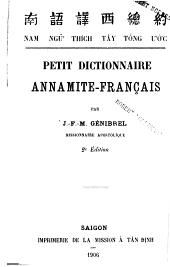 Petit dictionnaire annamite-français
