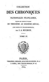 Les chroniques de Jean Froissart: Volume4