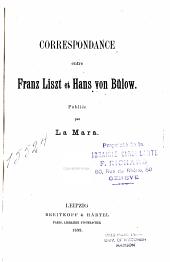 Correspondance entre Franz Liszt et Hans von Bülow