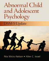 Abnormal Child and Adolescent Psychology: Pearson New International Edition CourseSmart eTextbook, Edition 8