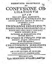 Dissertatio Inauguralis De Confusione Obligationum