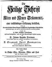Die Heil. Schrift, nebst einer vollstaendigen Erklaerung derselben aus den Anmerkungen Englaend. Schriftsteller: Band 5
