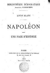 Napoléon: une page d'histoire